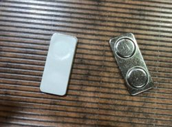 Metal Back Double Magnet Badge Attachment- Neodymium Magnets