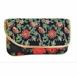 Ladies Floral Embroidery Clutch