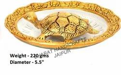 Metal Gold Plated Tortoise Plate