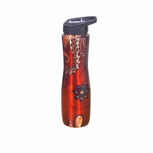 Printed Copper Sipper Bottle, Screw
