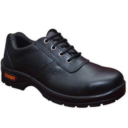 Leather Black Safety Shoes