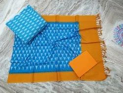 Pochampally double ikkath cotton dress materials