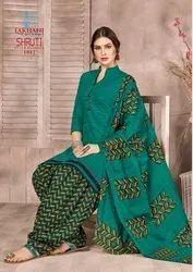 Cotton Lakhani Shruti Stitched Salwar Kameez Suit, Dry clean