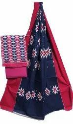 Unstitched Cotton Dupatta Suit Set
