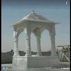 Indoor White Marble Chhatri, for Monument, Size: 8ft * 3ft * 3ft
