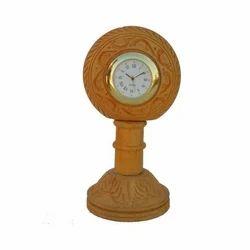 Brown Brown Table Clock