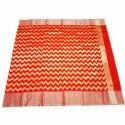 Ladies Zig Zag Print Chanderi Silk Saree