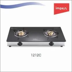 2 Burner Glass Gas Stove 1212C