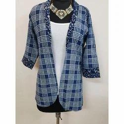 Cotton Ladies Bagru Printed Jacket
