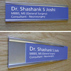 Sliding Doctors Name Plate