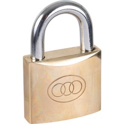 Multicolor Safety Pad Lock, Brass