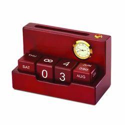 Wooden Desktop Calendar