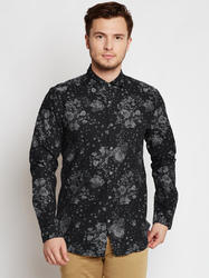 Black Full Sleeves Casual Mens Shirts