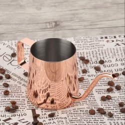 Stainless Steel Copper Plated Serving Milk Tea Pot 10 Oz