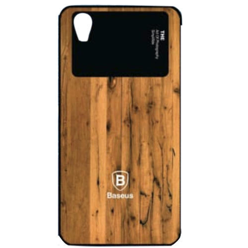 Brown Plastic Oppo A-37 Mobile Back Cover