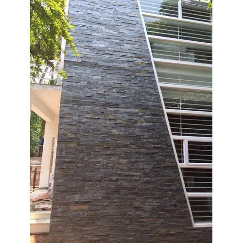 Blue And Grey Stone Exterior Wall Cladding, Rs 145 /square feet | ID ...