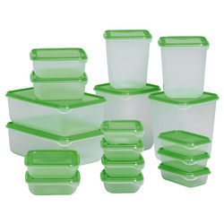 Transparent, Green Food Storage Containers