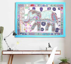 Patchwork Embroidered Wall Hanging