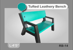Tufted Leathery Bench