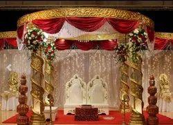 Golden Crystal Wedding Mandap