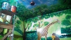 Play School 3d Theme Wall Painting