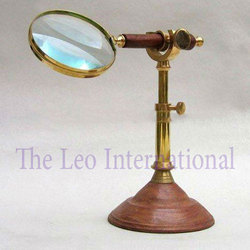 Brass nautical Magnifying Glass with stand