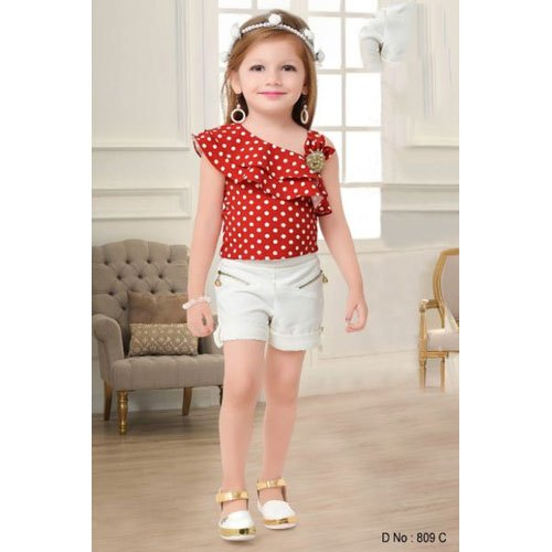 c6f2f069d07cf Cotton Cut Sleeves Baby Girl Top With Shorts, Rs 695 /piece   ID ...