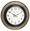 Wood Brass Fitted Wall Clock (Half Brass)