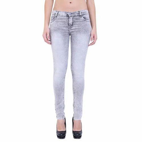 Ladies Stretchable Denim Jeans, Size: 30-38