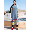Calf Length Printed Party Wear Kurti