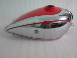 New Horex Regina Chrome And Red Painted Steel Petrol Tank (Small Version Reproduction