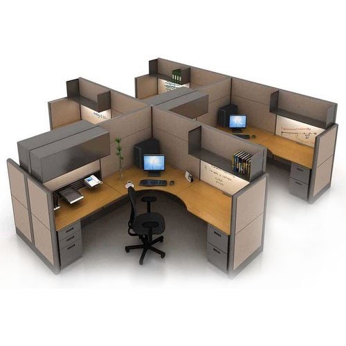 marvelous cubicles office furniture | Brown Cubical Office Workstation, LZN Interior | ID ...