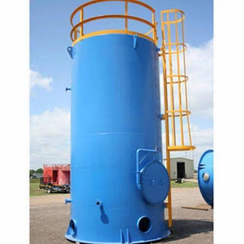200-250 psi Semi-Automatic Blue MS Vertical Storage Tank