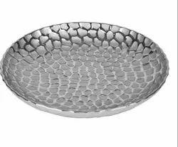 Round Silver Decorative Platter