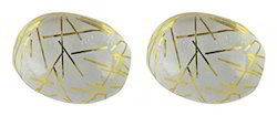 Yellow And White Rutile Glass Gemstone
