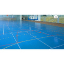 Blue Synthetic Sports Flooring
