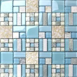 Pearl Mosaico Glass Kitchen Blue Mosaic Backsplash Tiles Rs 200 Square Feet Id 9656396848