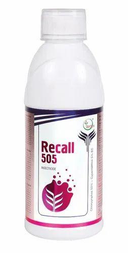 Chlorpyriphos 50%   Cypermethrin 5% EC Recall 505