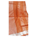 Orange Cotton Slub Saree