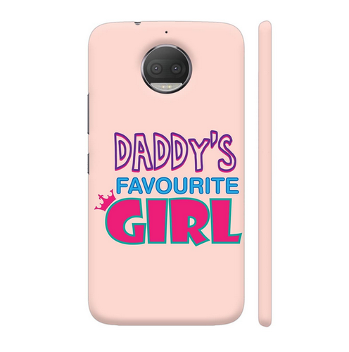 best loved 4ab9a c3f8a Colorpur Daddy's Favourite Girl Motorola Motog5s Plus Cover