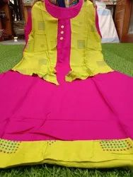 Double Layer Rayon Kurti With Attached Koti