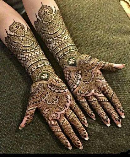 bharwa mehndi design latest