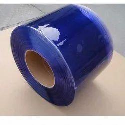 Blue PVC Strip Curtain Roll Supreme Grade UV coated