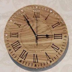 Wooden Multicolor Wall Clock