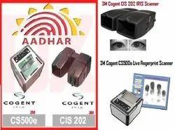 Cogent 3M CS500e 10 Print Fingerprint   CIS202 Dual IRIS Scanner