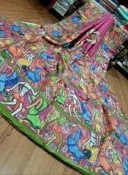 CB Pink Tussar Ghicha Digital Printed Saree