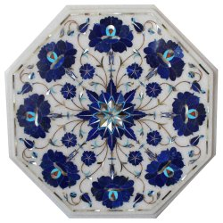 Octagonal table top Marble Inlay Table Top