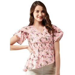 Ladies Flair Cotton Printed Top