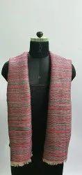 Fine Wool Party Wear Women Zari Reversible Strips Shawl