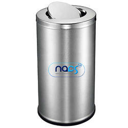 Stainless Steel Swing Lid Dustbin